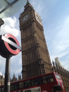 London: Big Ben, the Tube, and red double-deckers.